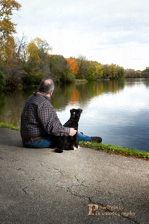 Dog Photo - Sammy and Rich watching the day